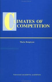 Cover of: Climates of competition | Maria Bengtsson