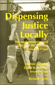 Cover of: Dispensing Justice Locally