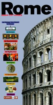 Cover of: Knopf City Guide to Rome (Knopf City Guides Rome)