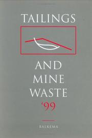 Cover of: Tailings & Mine Waste 99 (Proc 6th Intl