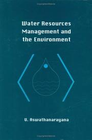 Cover of: Water resources managment and the environment (HBK)