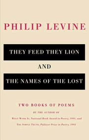 Cover of: They feed they lion: poems.