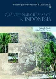 Cover of: Quaternary Research in Indonesia by Susan G. Keates, Juliette Pasveer