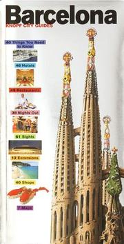 Cover of: Knopf City Guide to Barcelona (Knopf City Guides)