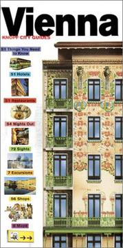 Cover of: Knopf City Guide to Vienna (Knopf City Guides Vienna)