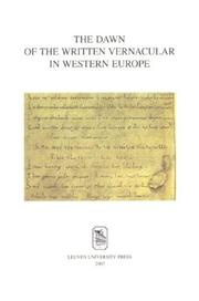 Cover of: dawn of the written vernacular in Western Europe |