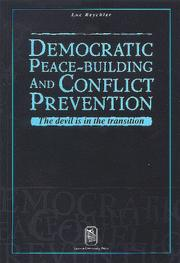 Cover of: Democratic peace-building and conflict prevention