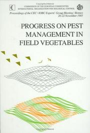 Cover of: Progress on Pest Management in Field Vegetables | R. Cavalloro