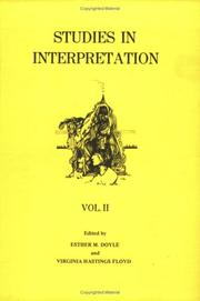 Cover of: Studies in interpretation. | Esther M. Doyle