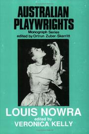 Cover of: Louis Nowra |
