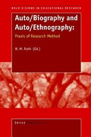Cover of: Auto/Biography and Auto/Ethnography