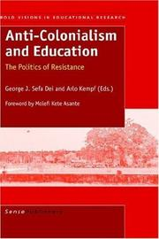 Cover of: Anti-Colonialism and Education |