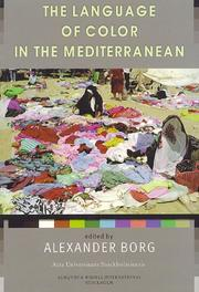 Cover of: The language of color in the Mediterranean