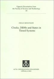 Cover of: Clocks, DBMS and States in Timed Systems