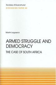 Cover of: Armed struggle and democracy | Martin Legassick