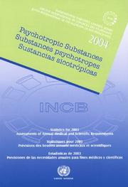 Cover of: Psychotropic Substances |