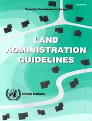 Cover of: Land administration guidelines |