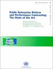 Cover of: Public enterprise reform and performance contracting | International Conference on Performance Contracting (1997 New Delhi, India)