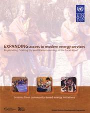 Cover of: Expanding Access to Modern Energy Services | United Nations.