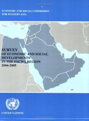 Cover of: Survey of Economic and Social Development in the ESCWA Region, 2004-2005 |