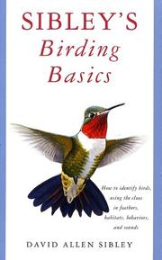 Cover of: Sibley's Birding Basics