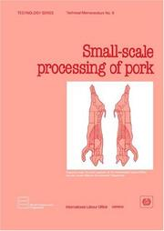 Cover of: Small-scale processing of pork |