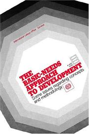 Cover of: The Basic-needs approach to development |