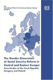 Cover of: The Gender Dimensions Of Social Security Reform In Central And Eastern Europe |
