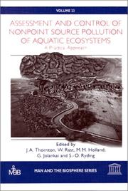 Cover of: Assessment and Control of Nonpoint Source Pollution of Aquatic Ecosystems |