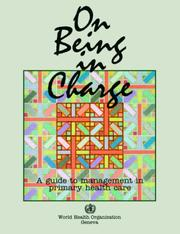 Cover of: On being in charge | Rosemary McMahon