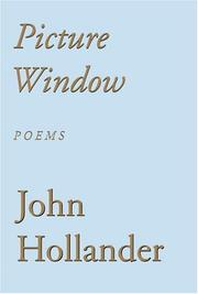Cover of: Picture Window | John Hollander