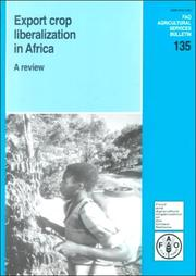 Cover of: Export crop liberalization in Africa