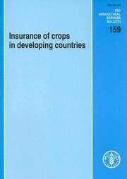 Cover of: Insurance of Crops in Developing Countries | R. A. J. Roberts