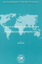 Cover of: China's economic performance in an international perspective