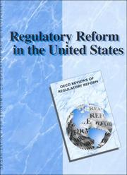 Cover of: Regulatory Reform in the United States (OECD Reviews of Regulatory Reform) | Scott H. Jacobs