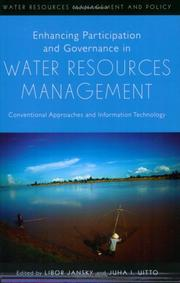 Cover of: Enhancing participation and governance in water resources management |