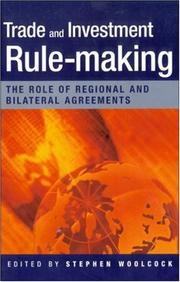 Cover of: Trade And Investment Rule-Making | Stephen Woolcock