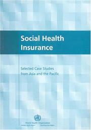 Cover of: Social health insurance | World Health Organization