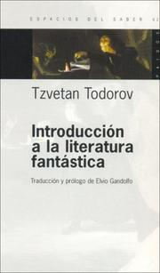 Cover of: Introduccion a la Literatura Fantastica