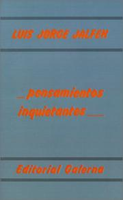 Cover of: Pensamientos inquietantes