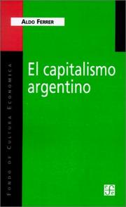 Cover of: El Capitalismo Argentino