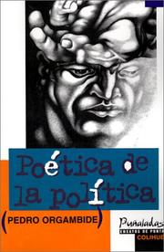Cover of: Poética de la política