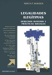 Cover of: Legalidades Ilegitimas