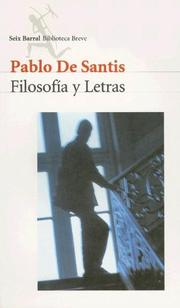 Cover of: Filosofia y Letras