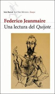 Cover of: Una lectura del Quijote