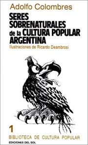 Cover of: Seres sobrenaturales de la cultura popular argentina