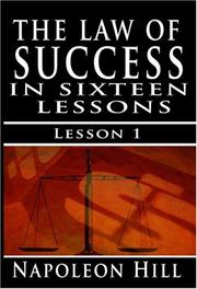 Cover of: The Law of Success, Volume I: Principles of Self-Mastery