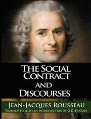 Cover of: The Social Contract and Discourses