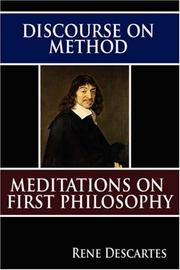Cover of: Discourse on Method and Meditations on First Philosophy | René Descartes