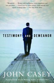 Cover of: Testimony and Demeanor | John Casey